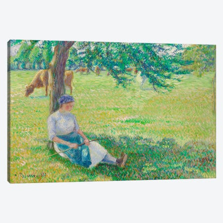 Cowgirl, Eragny, 1887 Canvas Print #BMN6648} by Camille Pissarro Art Print