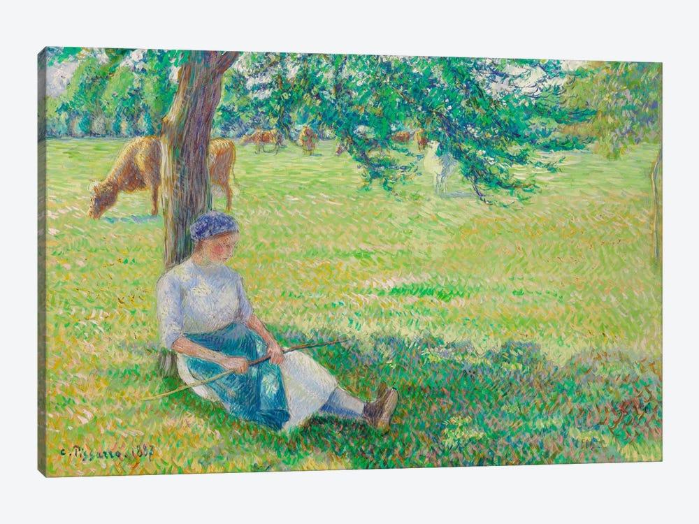 Cowgirl, Eragny, 1887 by Camille Pissarro 1-piece Canvas Print