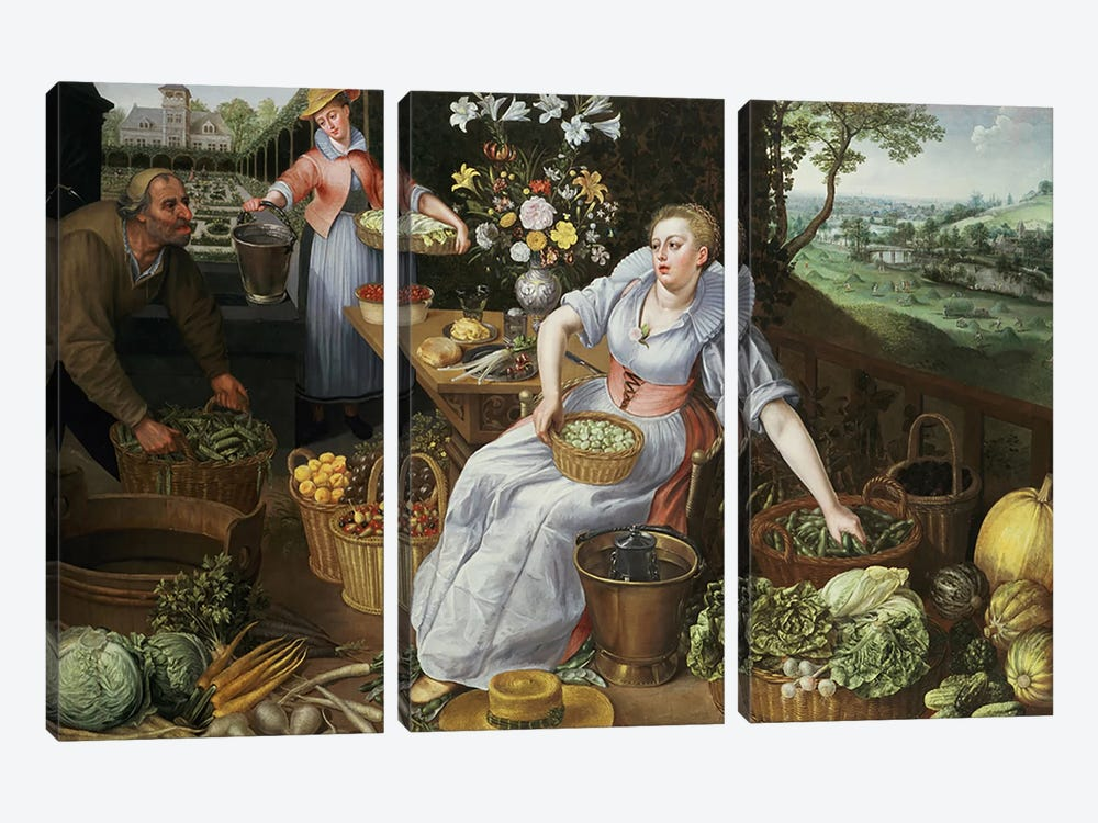 An Allegory of Summer by Lucas van Valckenborch 3-piece Canvas Art Print