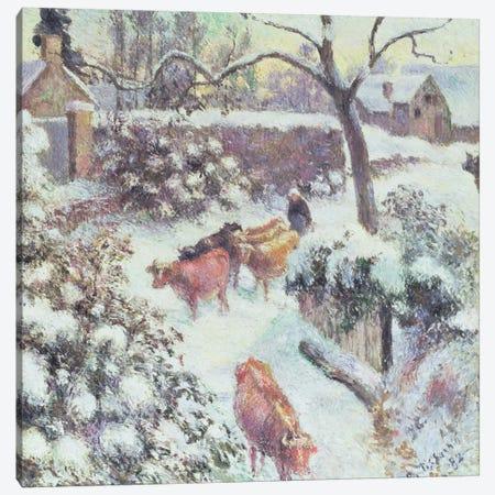Effet de Neige a Montfoucault, 1882 Canvas Print #BMN6650} by Camille Pissarro Canvas Wall Art