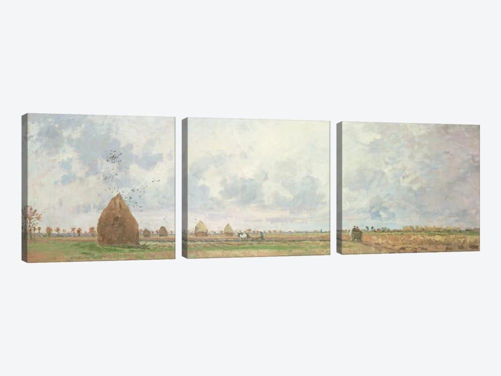 Four Seasons, Autumn, 1872 by Camille Pissarro 3-piece Canvas Print