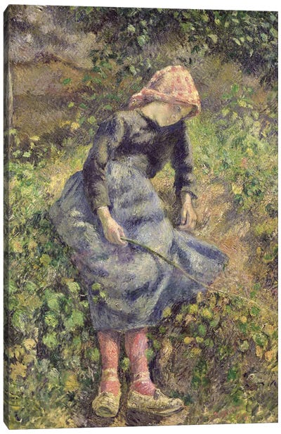 Girl With A Stick, 1881 Canvas Print #BMN6652