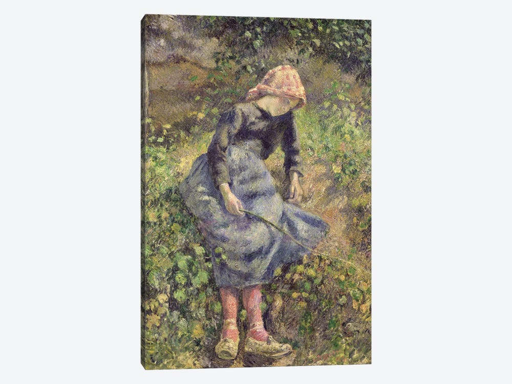 Girl With A Stick, 1881 1-piece Canvas Wall Art