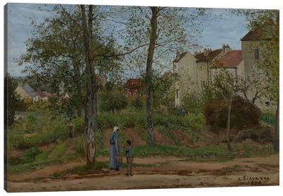 Houses At Bougival, 1870 Canvas Art Print
