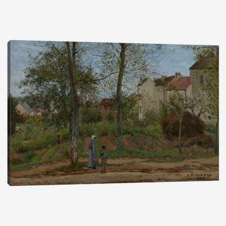 Houses At Bougival, 1870 Canvas Print #BMN6653} by Camille Pissarro Canvas Wall Art