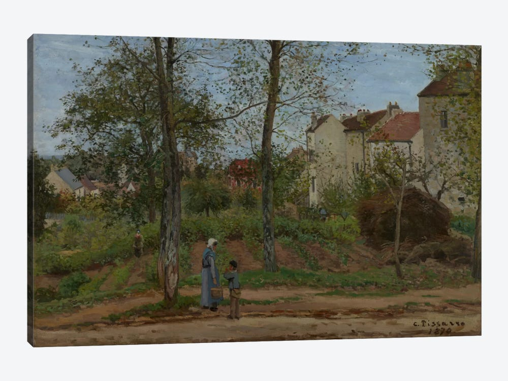 Houses At Bougival, 1870 1-piece Canvas Print