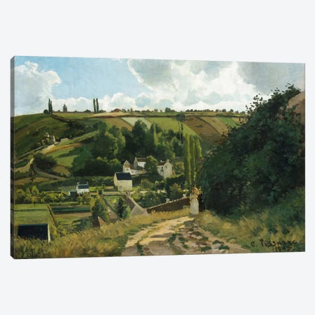 Jalais Hill At Pontoise, 1867 Canvas Print #BMN6654} by Camille Pissarro Canvas Art Print