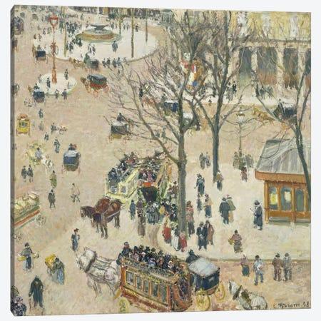 La Place du Theatre Francais, 1898 Canvas Print #BMN6655} by Camille Pissarro Canvas Art Print