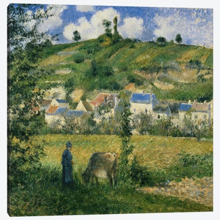 Landscape At Chaponval, 1880 Canvas Print #BMN6656} by Camille Pissarro Canvas Print