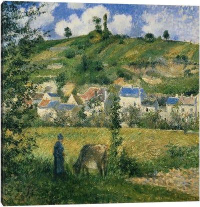 Landscape At Chaponval, 1880 Canvas Art Print