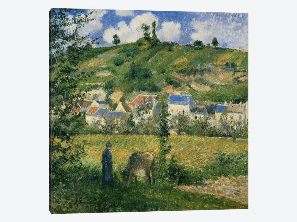 Landscape At Chaponval, 1880 by Camille Pissarro 1-piece Canvas Artwork