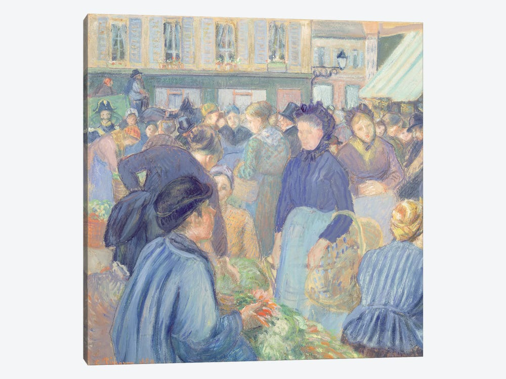 Le Marche de Gisors, 1889 by Camille Pissarro 1-piece Canvas Artwork