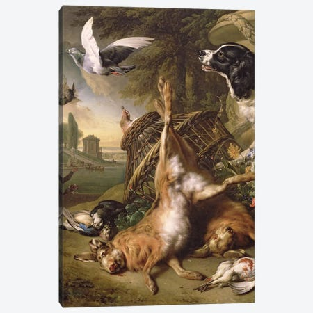Still Life with Dead Game and Hares Canvas Print #BMN665} by Jan Weenix Canvas Art Print