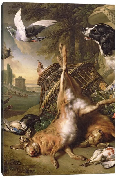 Still Life with Dead Game and Hares Canvas Art Print
