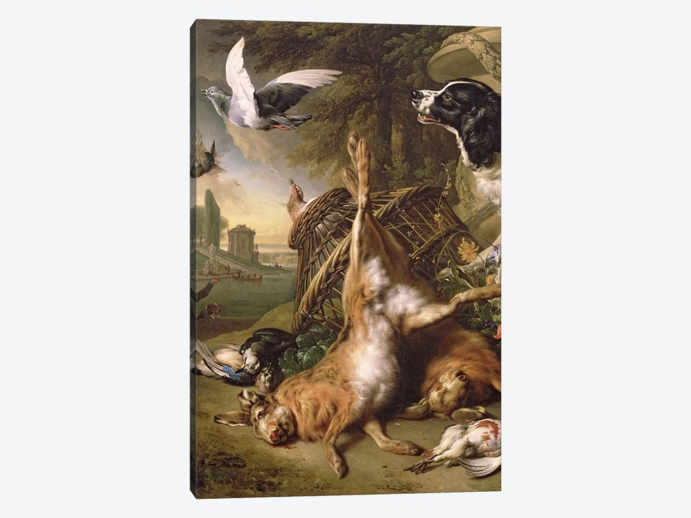 Still Life with Dead Game and Hares by Jan Weenix 1-piece Canvas Wall Art