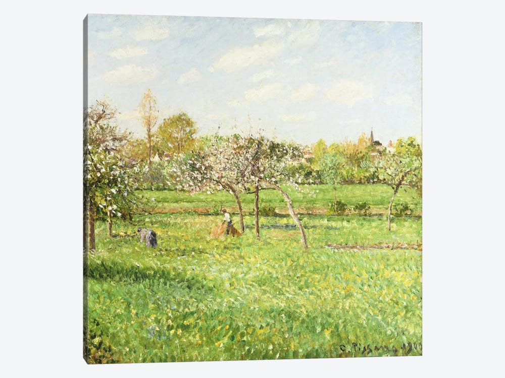 Morning, Spring, Grey Weather, Eragny, 1900 by Camille Pissarro 1-piece Art Print