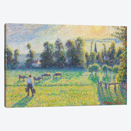 Pasture, Sunset, Eragny, 1890 Canvas Print #BMN6662} by Camille Pissarro Canvas Print