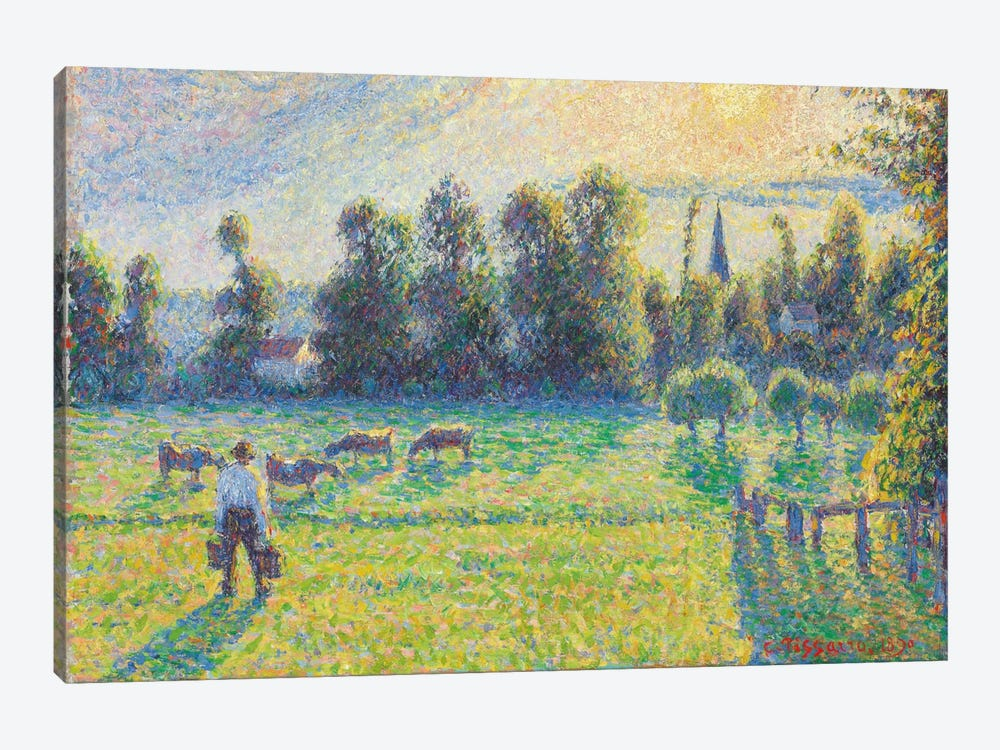 Pasture, Sunset, Eragny, 1890 by Camille Pissarro 1-piece Canvas Art Print