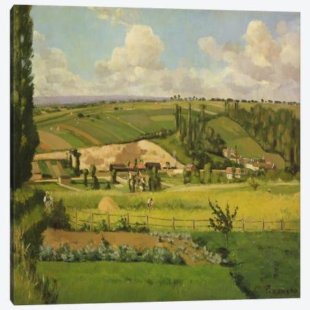 Paysage aux Patis, Pontoise, 1868 Canvas Print #BMN6663} by Camille Pissarro Canvas Print