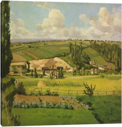 Paysage aux Patis, Pontoise, 1868 Canvas Art Print