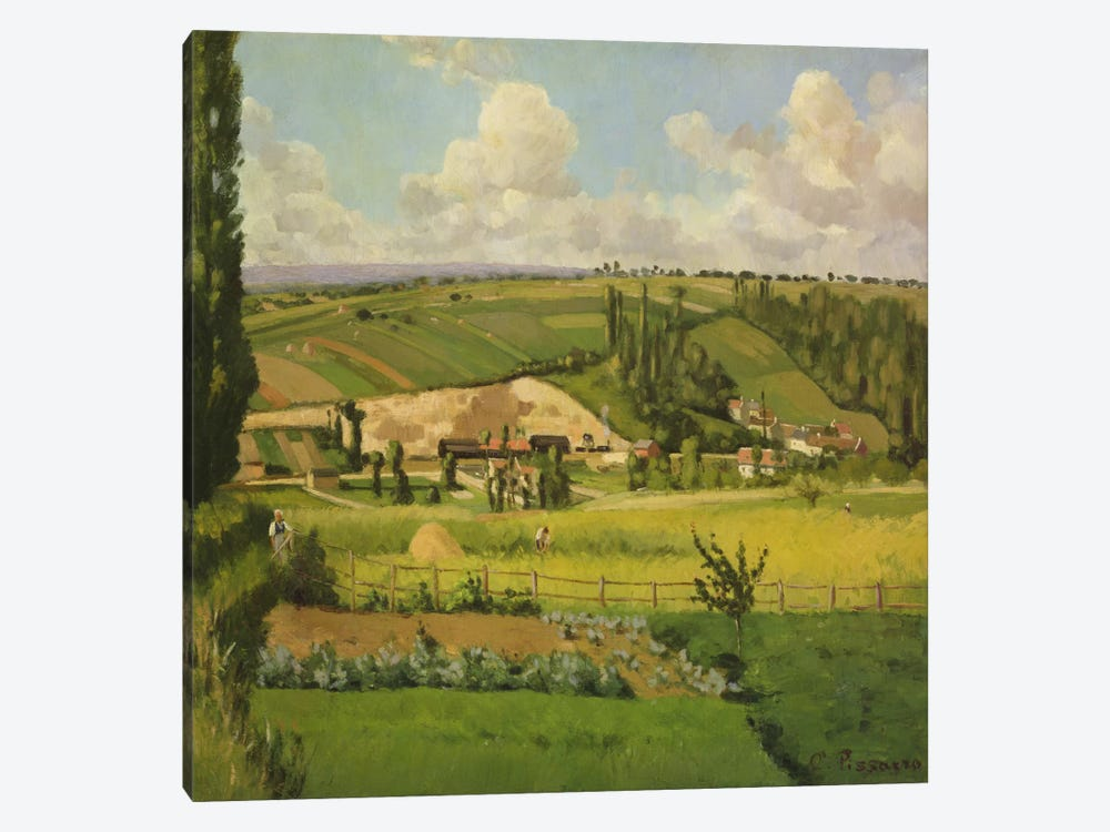 Paysage aux Patis, Pontoise, 1868 by Camille Pissarro 1-piece Canvas Wall Art