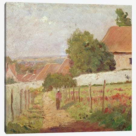 Paysage d'lle de France 3-Piece Canvas #BMN6664} by Camille Pissarro Canvas Artwork