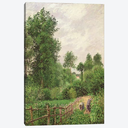Paysage, Temps Gris a Eragny, 1899 Canvas Print #BMN6665} by Camille Pissarro Canvas Wall Art