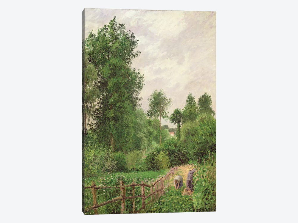 Paysage, Temps Gris a Eragny, 1899 by Camille Pissarro 1-piece Canvas Wall Art