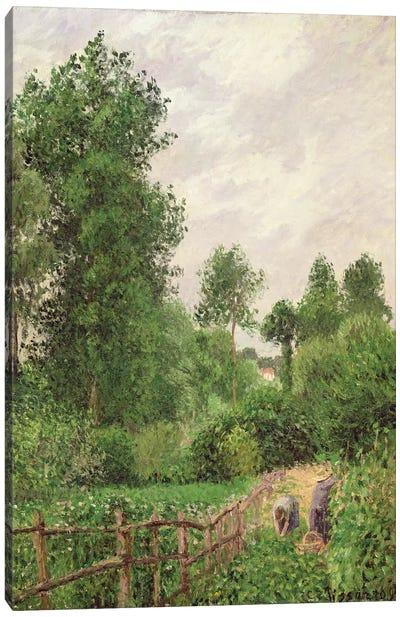 Paysage, Temps Gris a Eragny, 1899 Canvas Art Print