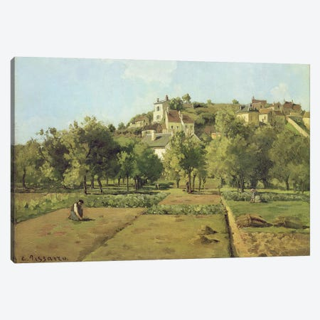 Pontoise (The Gardens Of Hermitage, Pontoise), 1867 Canvas Print #BMN6669} by Camille Pissarro Canvas Print