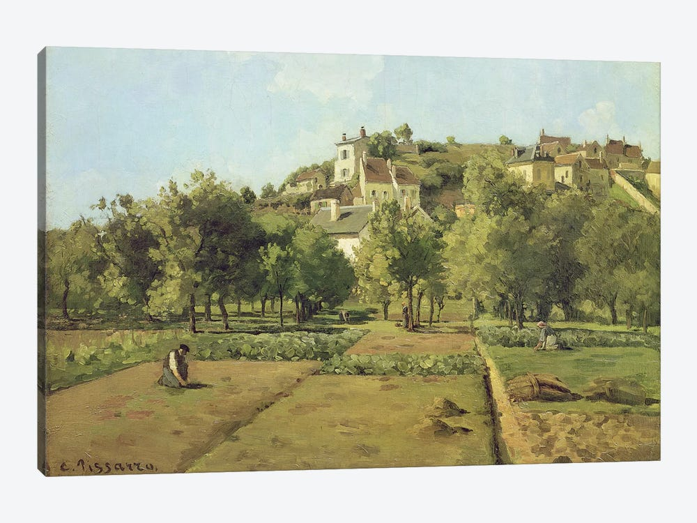 Pontoise (The Gardens Of Hermitage, Pontoise), 1867 by Camille Pissarro 1-piece Canvas Art