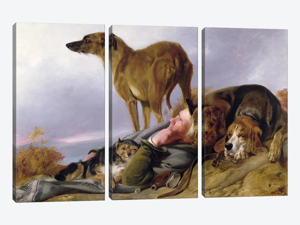 The First Watch  by Richard Ansdell 3-piece Canvas Print