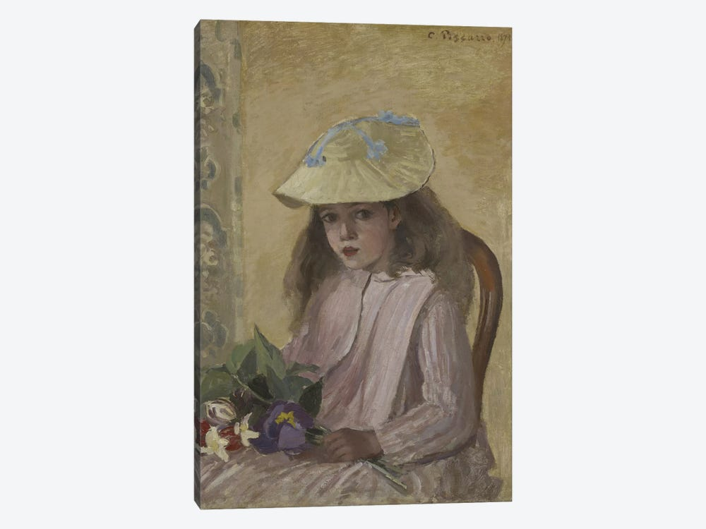 Portrait Of The Artist's Daughter, 1872 by Camille Pissarro 1-piece Canvas Art Print