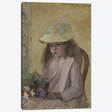 Portrait Of The Artist's Daughter, 1872 Canvas Print #BMN6671} by Camille Pissarro Canvas Art