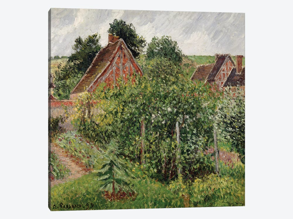 Rain, Afternoon, Eragny, 1899 by Camille Pissarro 1-piece Canvas Art