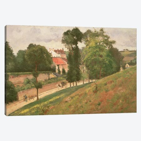 Route de Saint-Antoine a l'Hermitage, Pontoise, 1873 Canvas Print #BMN6673} by Camille Pissarro Canvas Wall Art