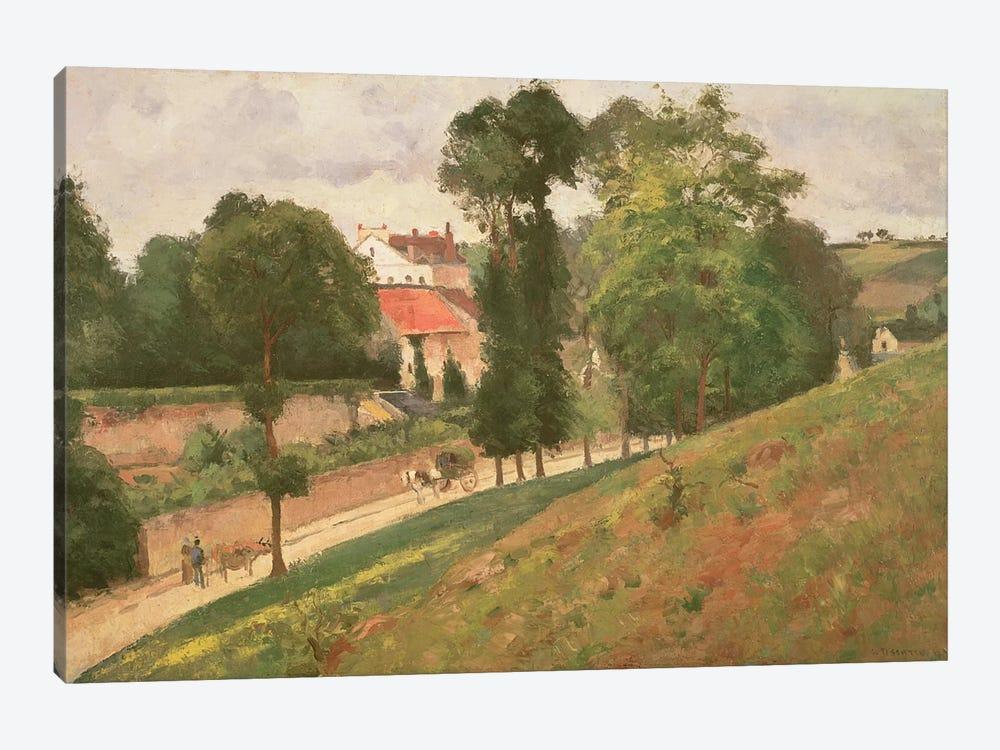 Route de Saint-Antoine a l'Hermitage, Pontoise, 1873 by Camille Pissarro 1-piece Art Print