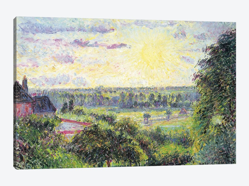 Sunset At Eragny, 1891 by Camille Pissarro 1-piece Canvas Print