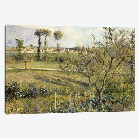 Sunset At Valhermeil, Near Pontoise, 1880 Canvas Print #BMN6678} by Camille Pissarro Canvas Art