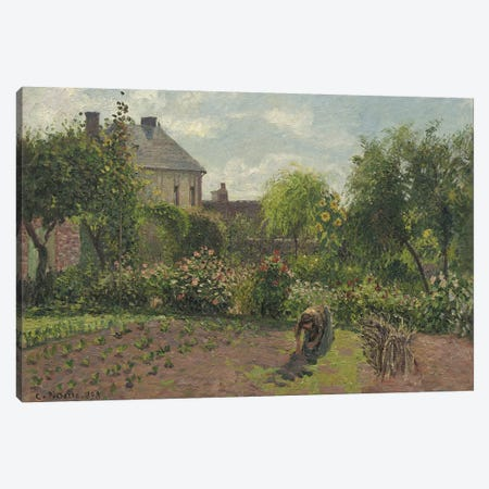 The Artist's Garden At Eragny, 1898 Canvas Print #BMN6679} by Camille Pissarro Canvas Artwork