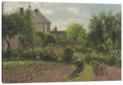 The Artist's Garden At Eragny, 1898 Canvas Art Print