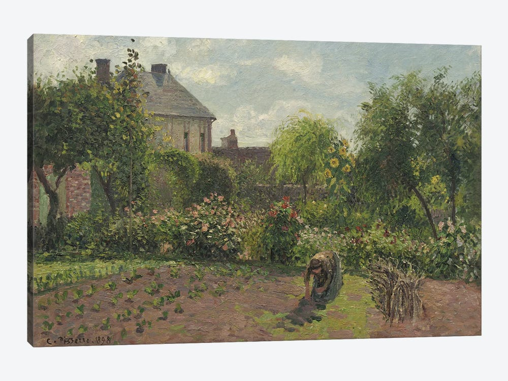 The Artist's Garden At Eragny, 1898 by Camille Pissarro 1-piece Canvas Art Print
