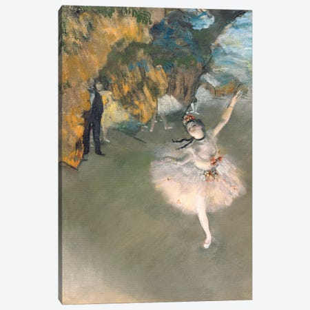 The Star, or Dancer on the stage, c.1876-77  Canvas Print #BMN667} by Edgar Degas Canvas Print
