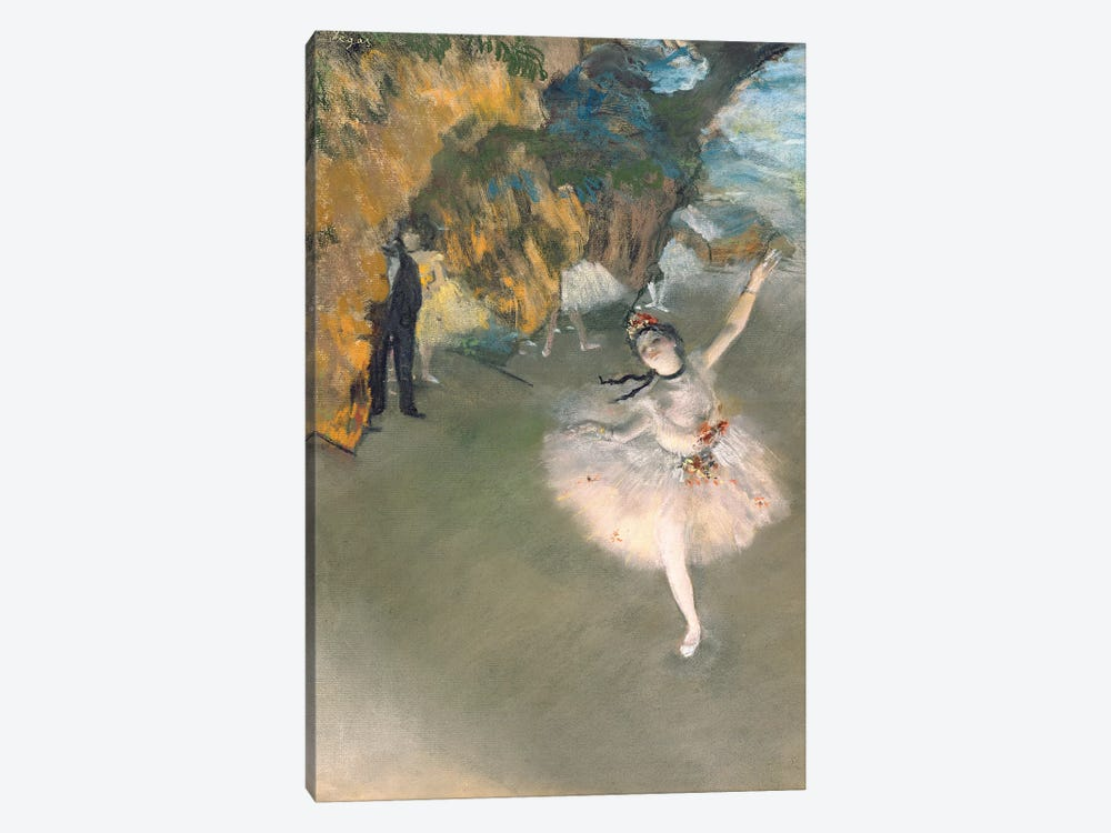 The Star, or Dancer on the stage, c.1876-77  by Edgar Degas 1-piece Canvas Art
