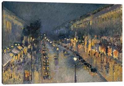 The Boulevard Montmartre At Night, 1897 Canvas Art Print