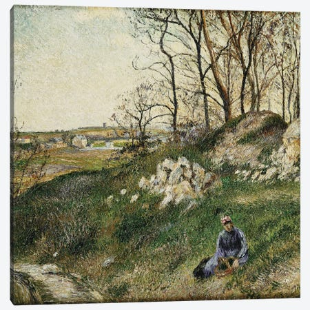 The Cabbage Pickers, Pontoise, 1882 Canvas Print #BMN6682} by Camille Pissarro Canvas Art Print