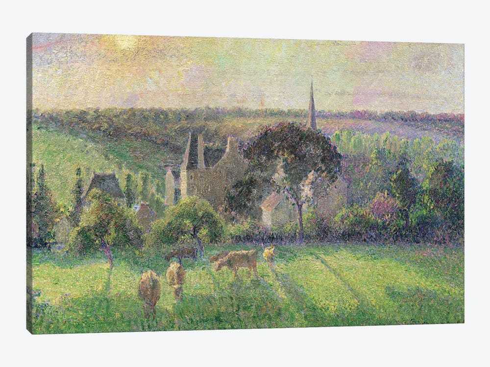 The Church And Farm Of Eragny, 1895 by Camille Pissarro 1-piece Canvas Art