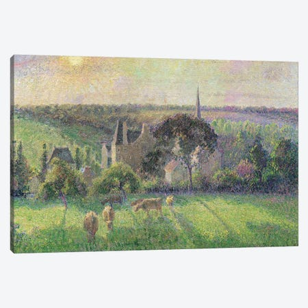 The Church And Farm Of Eragny, 1895 Canvas Print #BMN6683} by Camille Pissarro Canvas Print