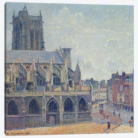 The Church Of St. Jacques In Dieppe, 1901 Canvas Print #BMN6684} by Camille Pissarro Canvas Artwork