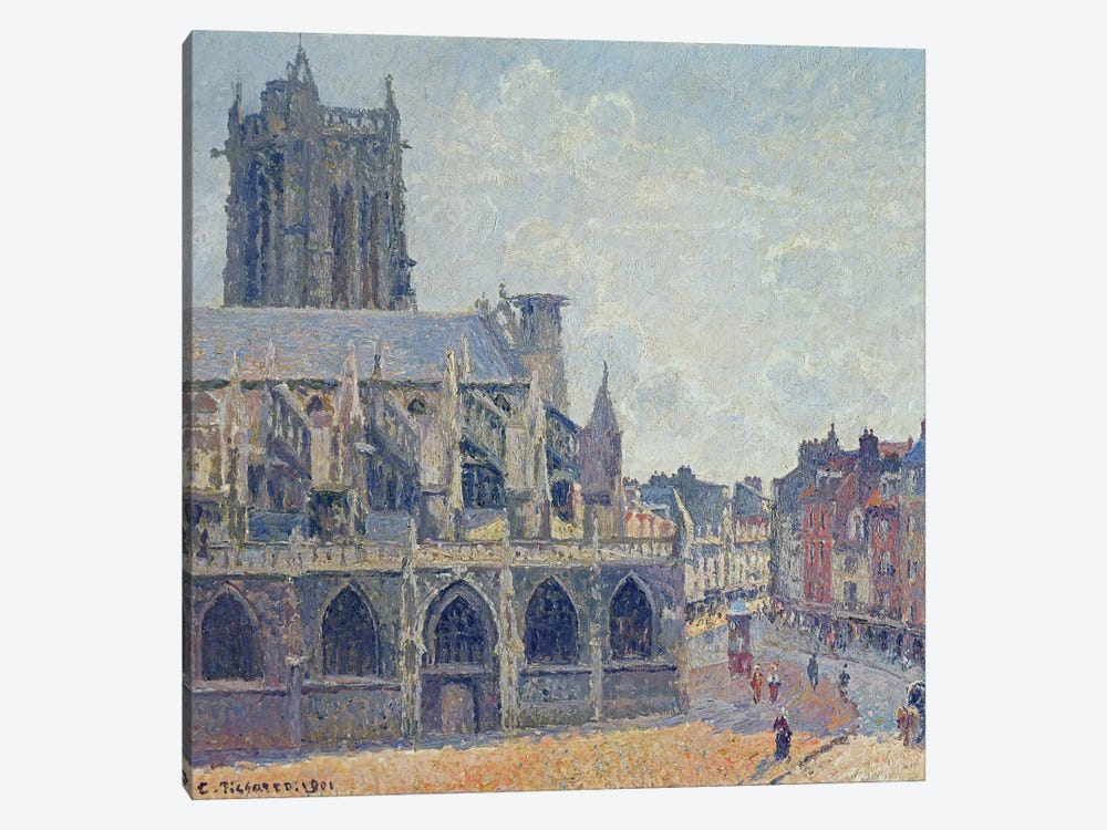The Church Of St. Jacques In Dieppe, 1901 by Camille Pissarro 1-piece Canvas Print
